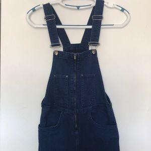 Dark blue jean overall